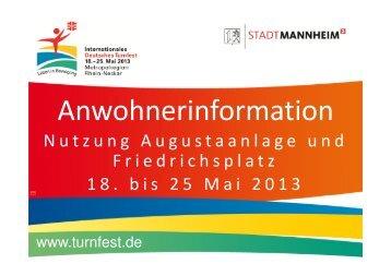Festmeile: Augustaanlage und Friedrichsplatz