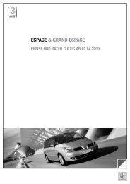 ESPACE & GRAND ESPACE - Renault