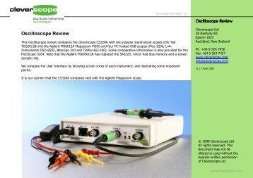 Cleverscope oscillos.. - Egmont Instruments