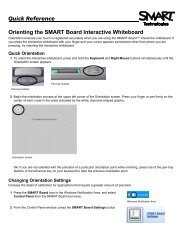 Quick Reference Orienting the SMART Board Interactive Whiteboard