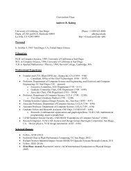 Curriculum Vitae - UCSD VLSI CAD Laboratory - UC San Diego
