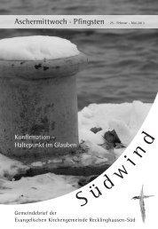Aschermittwoch · Pfingsten - Evangelische Kirchengemeinde ...