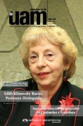 Edith Klimovsky - UAM. Comunicación Social