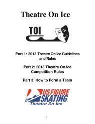2013 Theatre On Ice Guidelines and Rules - US Figure Skating
