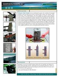 Ultrasonic Pulse Velocity - Olson Instruments, Inc.