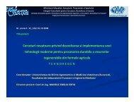 Cercetari novatoare privind dezvoltarea si implementarea unei ...