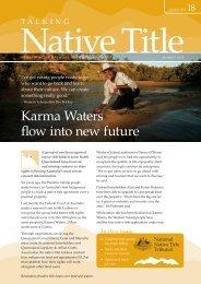 Karma Waters flow into new future - National Native Title Tribunal