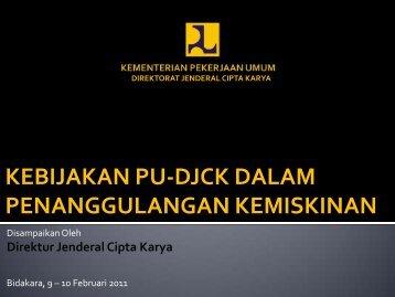 kebijakan pu-djck dalam penanggulangan kemiskinan - P2KP