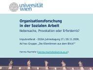 Organisationsforschung in der Sozialen Arbeit