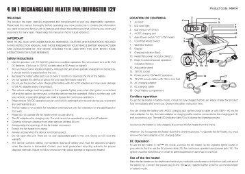 4 in 1 rechargeable heater fan/defroster 12v - Maplin Electronics