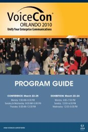 PROGRAM GUIDE - Enterprise Connect