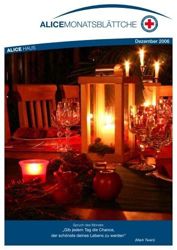 ALICE HAUS Dezember 2006 - Alice Haus Mainz