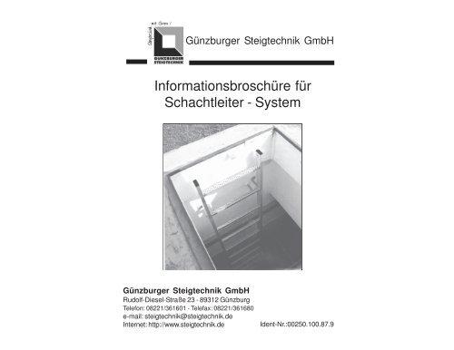 Außenbreite 340 mm Günzburger Schachtleiter aus Stahl