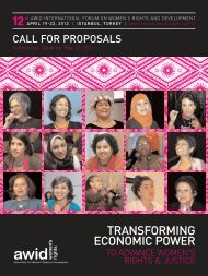Forum 2012 - Call for Proposals - AWID Forum