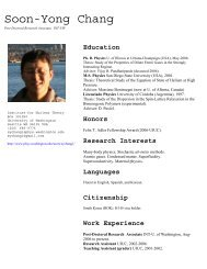 CV with publication list - Department of Physics - University of ...