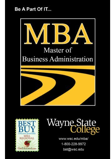 MBA Booklet - Wayne State College