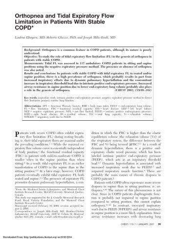 Orthopnea and Tidal Expiratory Flow Limitation in Patients With ...