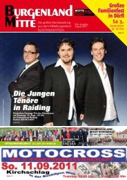 Die Jungen Tenöre in Raiding - Burgenland Mitte