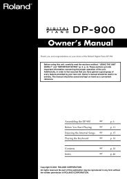 Owner's Manual (DP-900_OM.pdf) - Roland