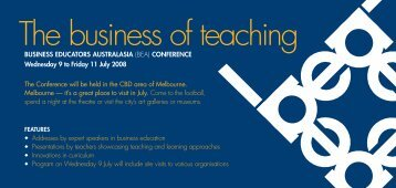 The business of teaching - afssse