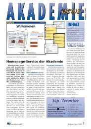 Ausgabe 2/2000 - WT-Akademie