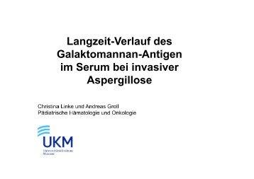 Langzeit-Verlauf des Galaktomannan-Antigen im ... - PEG-Symposien