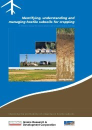 Identifying, understanding and managing hostile subsoils for cropping