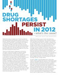 Drug Shortages Persist in 2012- What's the Cause? - American ...