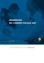 panorama de l'année fiscale 2007 - Lefèvre Pelletier & associés