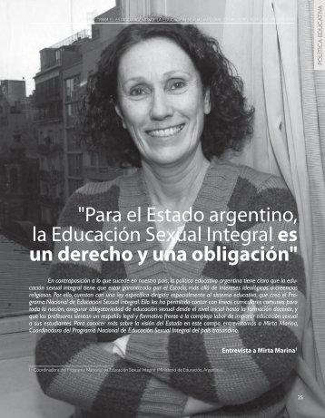 """""""Para el Estado argentino, la Educación Sexual ... - Revista Docencia"""