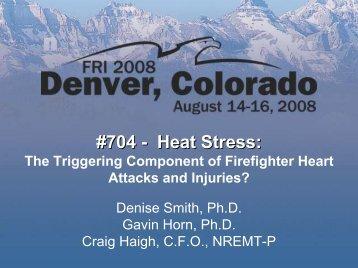 #704 - Heat Stress: - Illinois Fire Service Institute