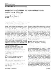 High-resolution phytoplankton diel variations in the summer ...