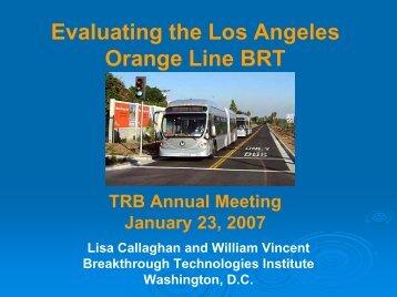 Orange Line BRT - Bus Rapid Transit Policy Center