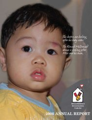 2008 annual report - Ronald McDonald House Charities of Tampa Bay