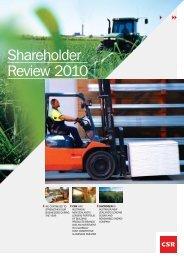 Shareholder Review 2010 - CSR
