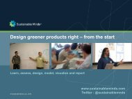 Design Greener Products using LCA - GreenProf