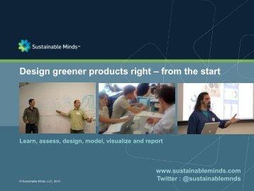 Design Greener Products using LCA - GreenProf