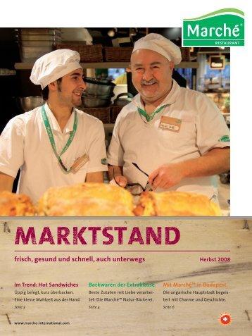 frisch, gesund und schnell, auch unterwegs - Marché Restaurants