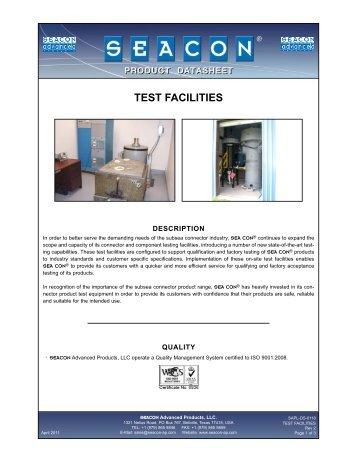 SAPL-DS-0118 SAPL Test Facilities Rev 2.qxp - Seacon