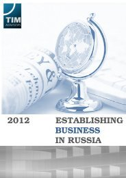 Establishing Business in Russia by TIM Advisers