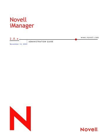 Novell iManager Administration Guide