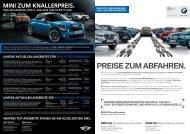 MINI Zum Knallerpreis. - BMW Group - Niederlassung Berlin