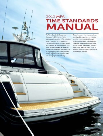2012 MFA Time Standards Manual - Specialty Fabrics Review