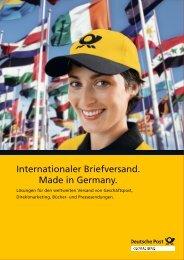 Internationaler Briefversand. Made in Germany.