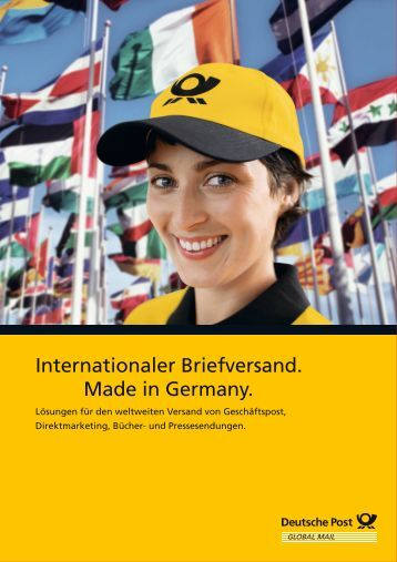 Internationaler Briefversand. Made in Germany.