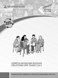 ebook BB Pelatihan UPK Tahun 2&3 - P2KP