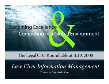 Law Firm Information Management f g - eSentio Technologies