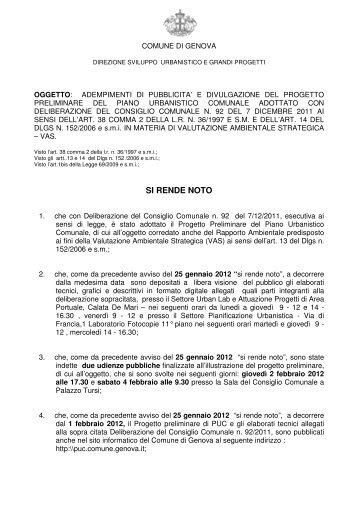 informazioni - Urban Center - Comune di Genova