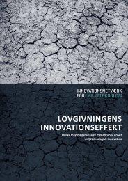 LOVGIVNINGeNs INNOVatIONseffekt - Copenhagen Cleantech ...