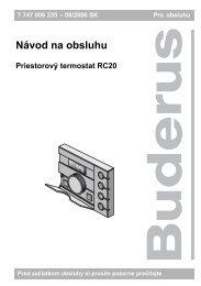Návod na obsluhu - Buderus